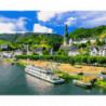 Мозель. Германия Раскраска картина по номерам на холсте