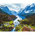 Норвежский фьорд Раскраска картина по номерам на холсте