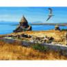 Озеро Севан. Армения Раскраска картина по номерам на холсте
