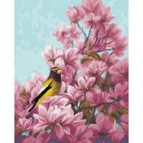 Манголия и птица Раскраска картина по номерам на холсте