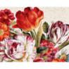 Цветы Раскраска картина по номерам на холсте