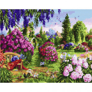 Красочный сад Раскраска картина по номерам на холсте