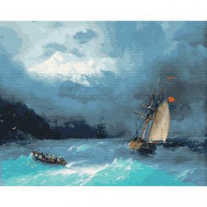 Бриг Раскраска картина по номерам на холсте