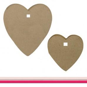 Сердца для создания гирлянды Заготовки из папье-маше Decopatch