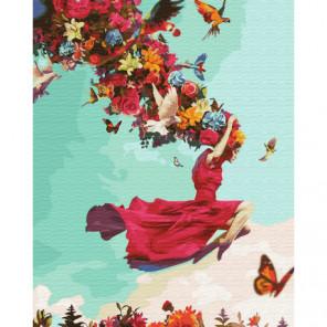Девушка лето Раскраска картина по номерам на холсте