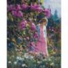 Девушка в лесу Раскраска картина по номерам на холсте