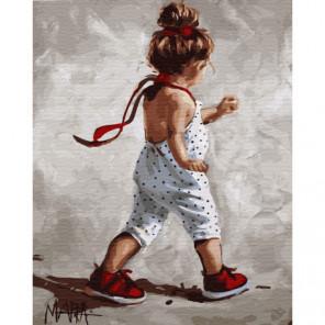 Ускоренный шаг Раскраска картина по номерам на холсте