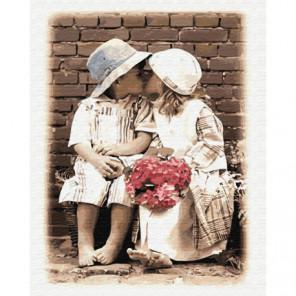 Детский поцелуй Раскраска картина по номерам на холсте