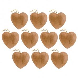 Сердечки на подвесе Заготовки из папье-маше объемные Decopatch