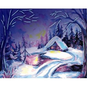 Зимнее утро Картина по номерам люминесцентная LPK36012