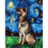 Красочный пёс Раскраска картина по номерам на холсте
