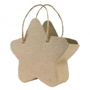 Звезда Сумка Заготовка из папье-маше объемная Decopatch