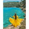 В жёлтом платье Раскраска картина по номерам на холсте