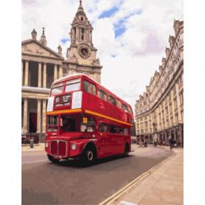 По знаменитому маршруту Лондона Раскраска картина по номерам на холсте