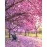 Радость цветущих деревьев Раскраска картина по номерам на холсте