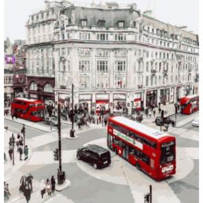 Маршруты красных автобусов Раскраска картина по номерам на холсте