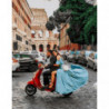 Римская поездка на мопеде Раскраска картина по номерам на холсте