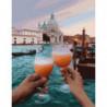 Отдых у венецианского канала Раскраска картина по номерам на холсте