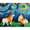 Красочные корги Раскраска картина по номерам на холсте