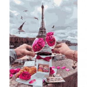 Парижские сладости и лепестки Раскраска картина по номерам на холсте