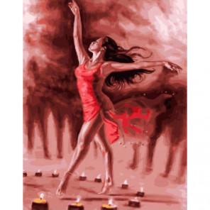 Танец при свечах Раскраска картина по номерам на холсте