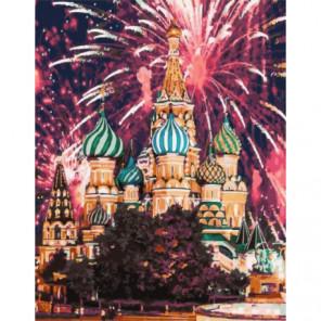 Салют на Красной площади Раскраска картина по номерам на холсте