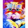 Радужный кот Раскраска картина по номерам на холсте