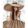 Дама на отдыхе Раскраска картина по номерам на холсте