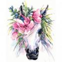Прекрасная лошадь Раскраска картина по номерам на холсте