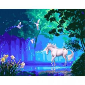 Волшебный единорог Раскраска картина по номерам на холсте