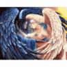 Светлый и темный ангелы Раскраска картина по номерам на холсте