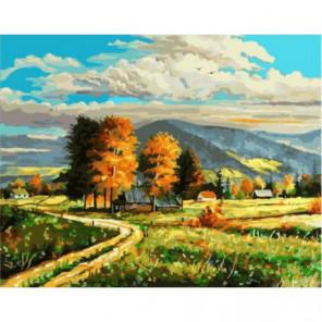 Извилистая дорога Раскраска картина по номерам на холсте