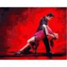 Жаркое танго любви Раскраска картина по номерам на холсте