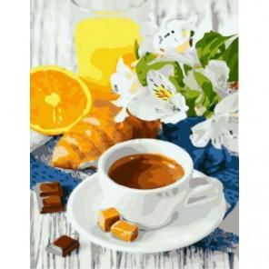 Кофе и карамель Раскраска картина по номерам на холсте