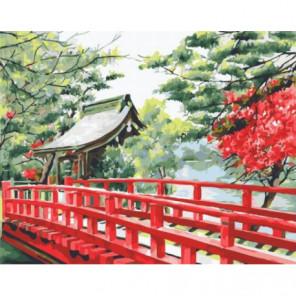 Японский мостик Раскраска картина по номерам на холсте