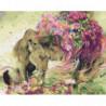 Львиная грусть Раскраска картина по номерам на холсте