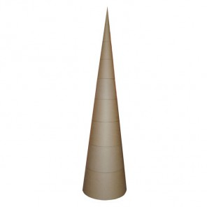 Ёлка-конус Заготовка гигант из папье-маше объемная Decopatch