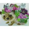 Ежик с бабочками и цветами Алмазная мозаика вышивка Painting Diamond