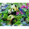 Панды в райском саду Алмазная мозаика вышивка Painting Diamond