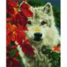 Волк за осенней листвой Алмазная мозаика вышивка Painting Diamond