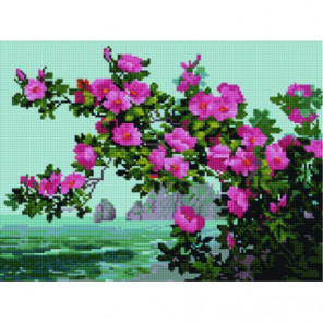 Цветы у моря Алмазная мозаика вышивка Painting Diamond