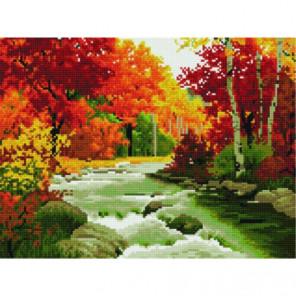 Осенняя река Алмазная мозаика вышивка Painting Diamond