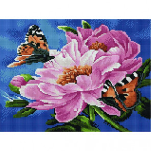 Бабочки на цветке Алмазная мозаика вышивка Painting Diamond