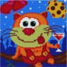 Кот навеселе Алмазная мозаика вышивка Painting Diamond
