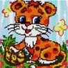 Маленький леопард Алмазная мозаика вышивка Painting Diamond
