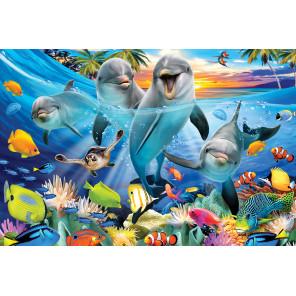 Игривые дельфины Super 3D пазлы с эффектом трехмерного объемного изображения 30765