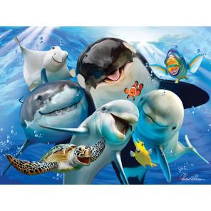 Океанское селфи Super 3D пазлы с эффектом трехмерного объемного изображения 13541