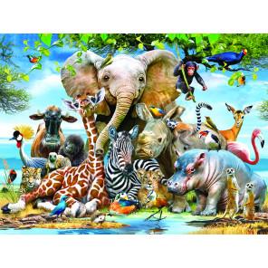 Веселая Африка Super 3D пазлы с эффектом трехмерного объемного изображения 13583