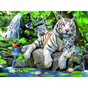 Белые тигры Бенгалии Super 3D пазлы с эффектом трехмерного объемного изображения 13664