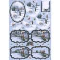 Зимняя прогулка Набор высеченных элементов для 3D декупажа Docrafts